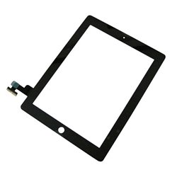Touch Panel - Digitizer High Copy for iPad 2, with tape, Black