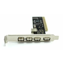 POWERTECH Κάρτα Επέκτασης PCI to USB 2.0, 4+1 ports, Chipset VIA6212