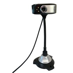 POWERTECH Web Camera 0.3MP, 30fps, Plug & Play, 1.1m, Black