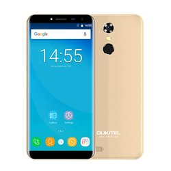 "OUKITEL Smartphone C8, 5.5"" HD, 2GB/16GB, Quad Core, 3000mAh, Gold"
