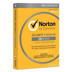 NORTON Security Premium 2018, 10 Άδειες, 1 έτος, EU