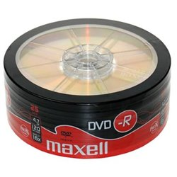 MAXELL DVD-R DVD0165 16x, 120min, 4.7GB, 25 Spindle