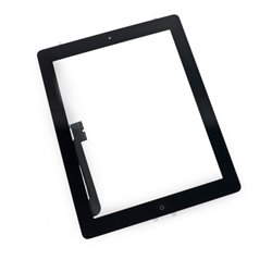 Touch Panel - Digitizer High Copy for iPad 4, with tape, Black
